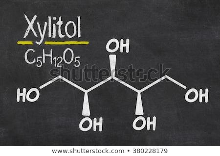 Blackboard chemische formule technologie teken zwarte Stockfoto © Zerbor