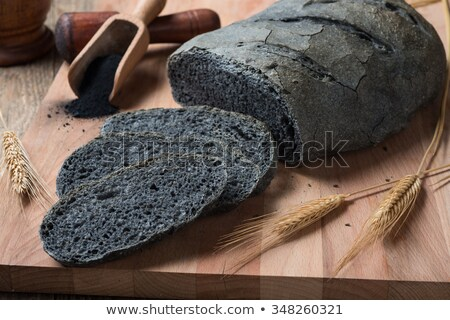 Activated carbon bread - pane carbone vegetale Stock photo © crampinini