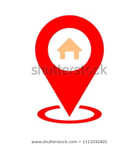 Mapa casa ícone estrada projeto viajar Foto stock © kiddaikiddee