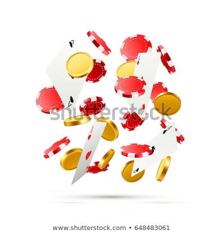 Jogos de azar cassino símbolos voador dados Foto stock © Winner