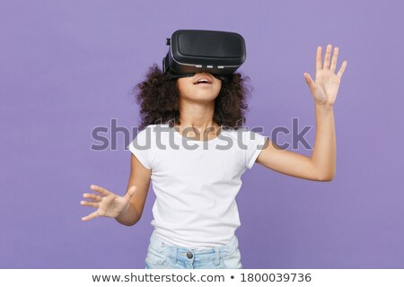 Child watching something on virtual headset Stock photo © ozgur