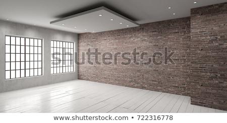 Habitación vacía estilo moderno luz piso techo pared Foto stock © bezikus
