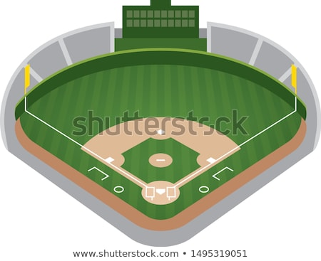Third base on a baseball field Stock photo © njnightsky