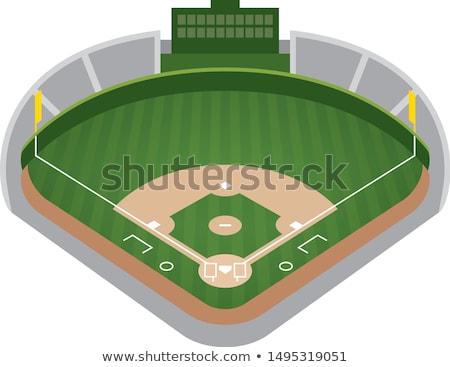 baseball · fű · fehér · zöld · fű · sportok · sport - stock fotó © njnightsky