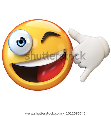 Ifade telefon 3d render siyah gülümseme yüz Stok fotoğraf © mariephoto