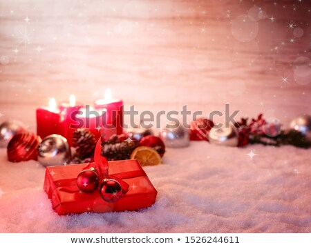 three red dry roses on the snow Stock photo © olykaynen