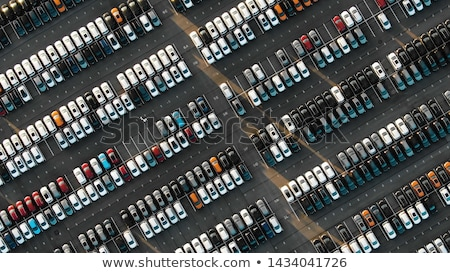 An aerial view of the parked cars Stock photo © bluering