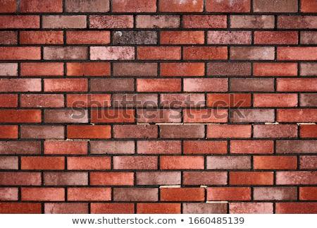 piros · téglafal · textúra · anyag · ipar · építkezés - stock fotó © simply