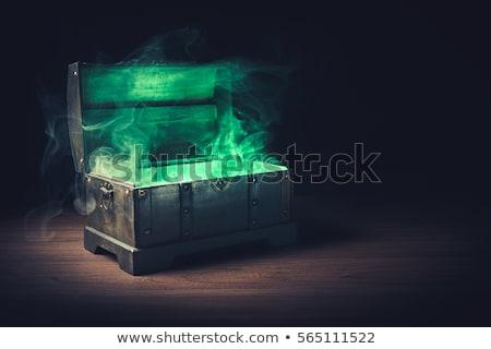 Alto contraste verde caixas fundo quadro Foto stock © MONARX3D