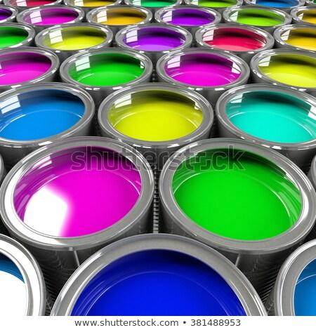 複数 オープン 塗料 虹色 多様 ストックフォト © pakete