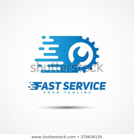 Szybko usługi symbol dzwon rakietowe jet Zdjęcia stock © Lightsource