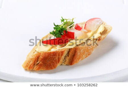 Bread with butter, radish and cress Stock photo © Digifoodstock