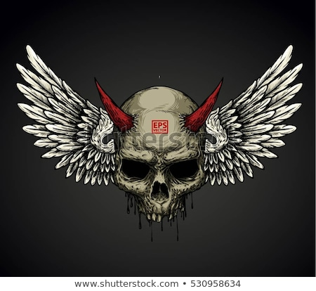 Demon Head Skull Vector Stock photo © doddis