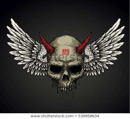 Zdjęcia stock: Demon Head Skull Vector