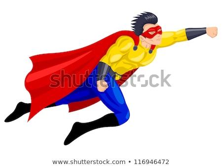 Szuperhős repülés test rajz vektor izom Stock fotó © doddis