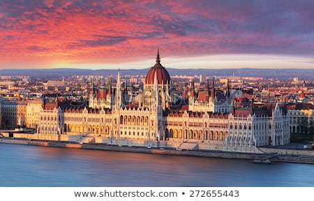 cityscape of budapest hungary at twilight stock photo © kayco