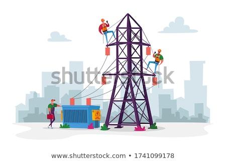 powerlines stock photo © lizard