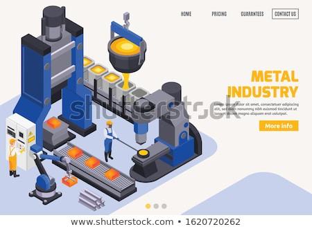 Workers in iron steel industrial factory Stock photo © zurijeta