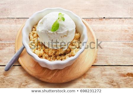 dilim · kediotu · dondurma · beyaz · tekstil · meyve - stok fotoğraf © digifoodstock