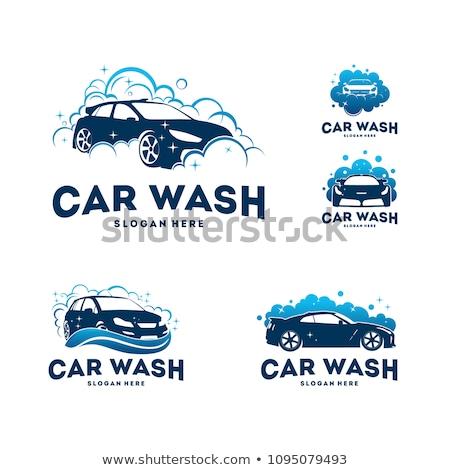 car · wash · cartoon · illustrazione · auto · macchina - foto d'archivio © studioworkstock