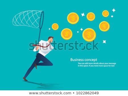 お金 シルエット ビジネスマン ビジネス 男 を実行して ストックフォト © Twinkieartcat