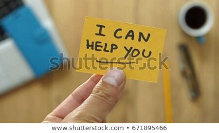 We can help written on a blackboard Stock photo © Zerbor