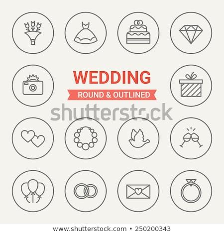 bruiloft · lijn · vector · collectie · moderne - stockfoto © anna_leni