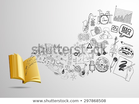 art back to School background; discovery education Stock photo © Konstanttin