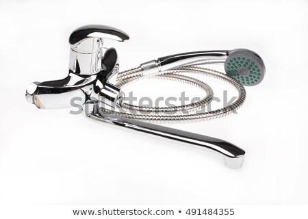 Metal cromo agua mezclador aislado construcción Foto stock © user_9834712