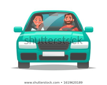 Kierowcy wewnątrz samochodu strony koła Zdjęcia stock © fuzzbones0