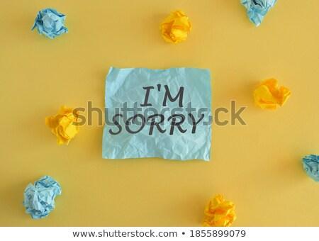 sorry text on notepad stock photo © fuzzbones0