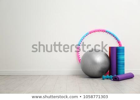 springen · touw · trainers · gymnasium · vloer · sport - stockfoto © racoolstudio
