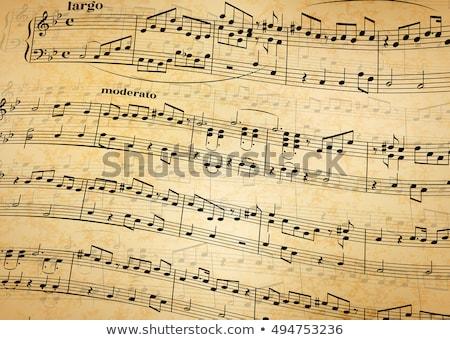 música · notas · textura · tornado · vector · gráficos - foto stock © evgeny89