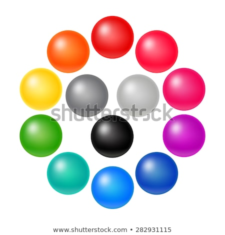 Rounded buttons with toys Stock photo © bluering