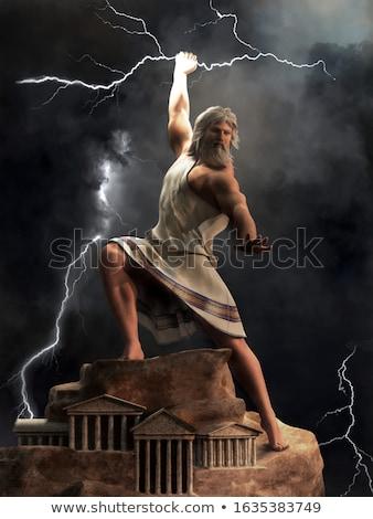 Gök gürültüsü Tanrı arka plan savaş renk Stok fotoğraf © doomko