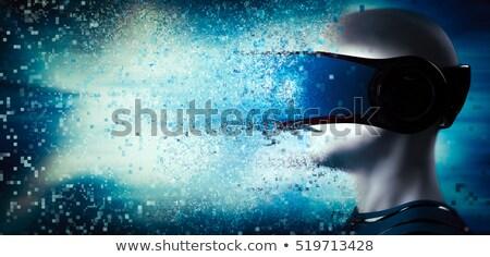 Jövő virtuális valóság humanoid üzlet oktatás Stock fotó © kentoh