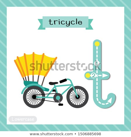A letter T for tricycle Stock photo © bluering