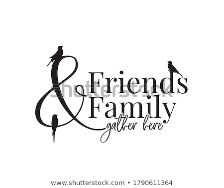 Font design for word friends Stock photo © bluering