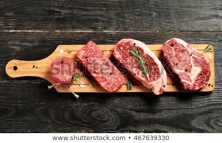 bife · osso · chama · churrasco · raso · comida - foto stock © alex9500