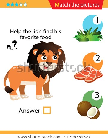 Game template with matching lion Stock photo © bluering