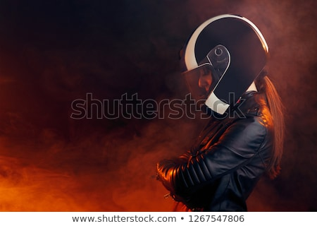 girl with helmet for motorcycle Stock photo © adrenalina