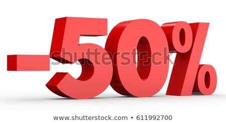 Red minus fifty percent Stock photo © Oakozhan