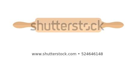 скалка икона вектора стиль изолированный белый Сток-фото © lucia_fox