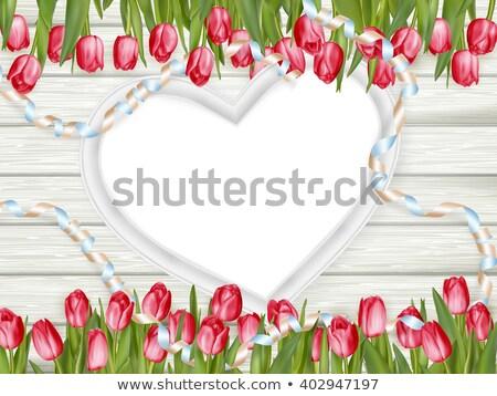 hart · frame · vers · tulpen · eps · 10 - stockfoto © beholdereye