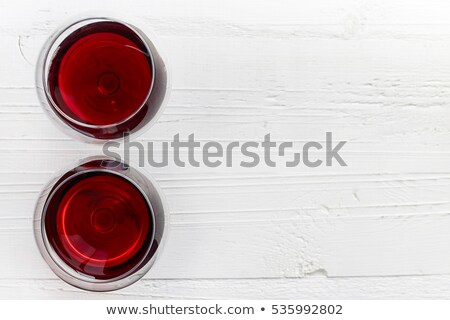 two glasses of red wine the top view stock photo © alex9500