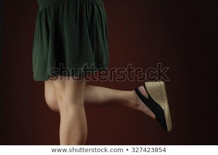 kadın · bacaklar · zarif · kırmızı · ayakkabı · kusursuz - stok fotoğraf © dolgachov