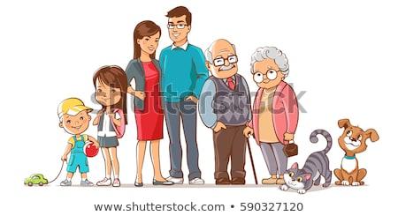 rodziny · grupy · stałego · studio · dziecko - zdjęcia stock © monkey_business