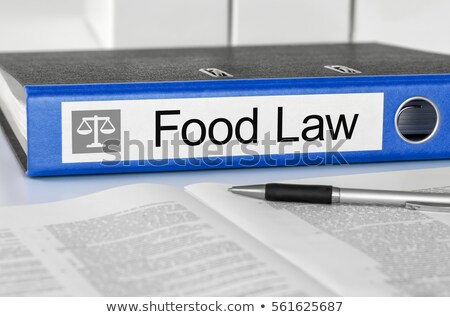 Blue folder with the label Food Law Stock photo © Zerbor