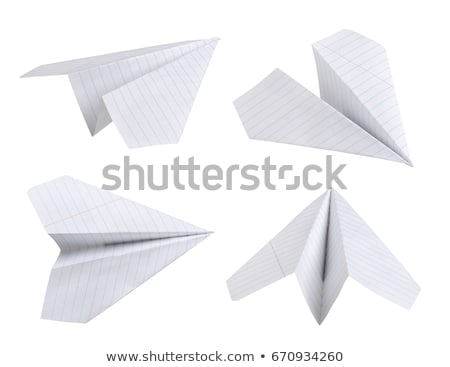 Paper airplane, isolated Stock photo © cherezoff