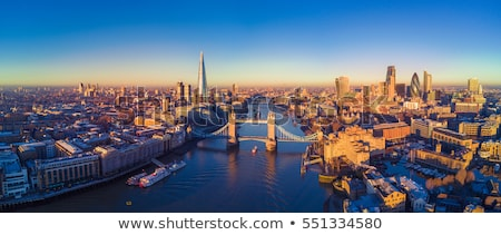 Londres · Skyline · silhouette · isolé · blanche · réflexions - photo stock © 5xinc